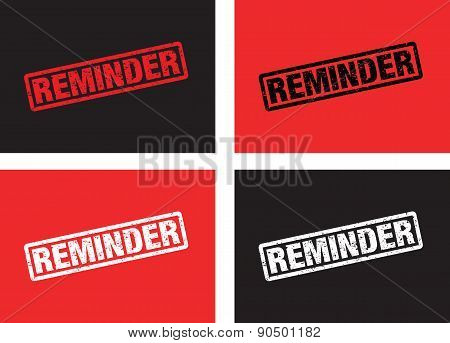 A Set Of Reminder Stamps