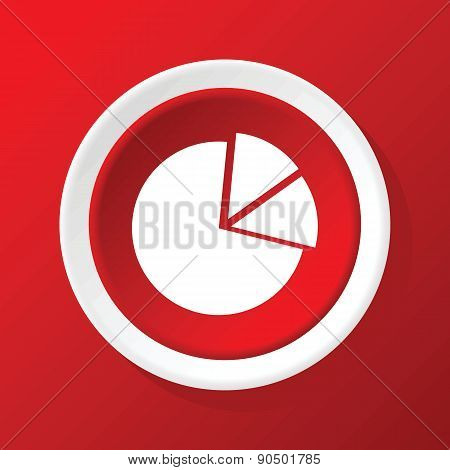 Diagram icon on red