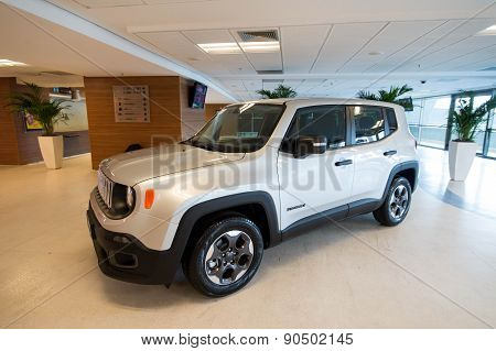 Jeep on display at the Maracana