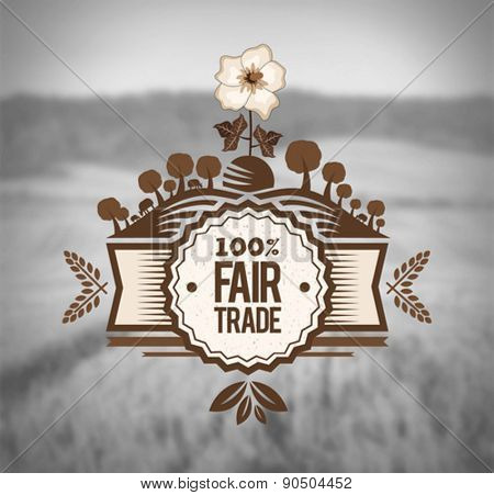 Digitally generated Fair Trade vector