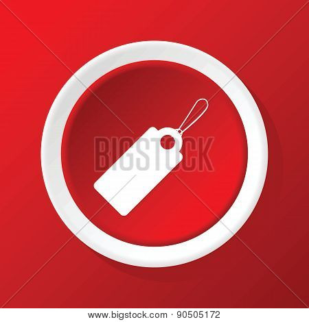 String tag icon on red