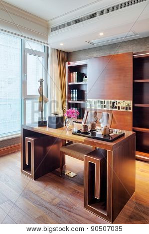 luxury study interior and decoration