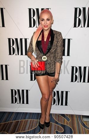 LOS ANGELES - MAY 12:  Bonnie McKee at the BMI Pop Music Awards at the Beverly Wilshire Hotel on May 12, 2015 in Beverly Hills, CA