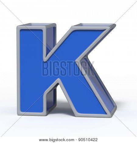 letter K isolated on white background