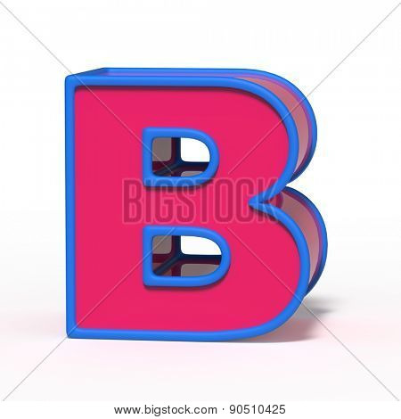 letter B isolated on white background