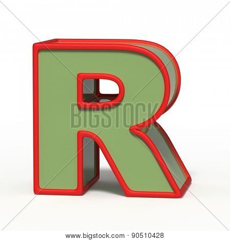 letter R isolated on white background