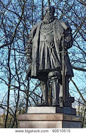 KALININGRAD, RUSSIA - APRIL 18, 2015: Monument Of Duke Albrecht. Kaliningrad (formerly Koenigsberg)
