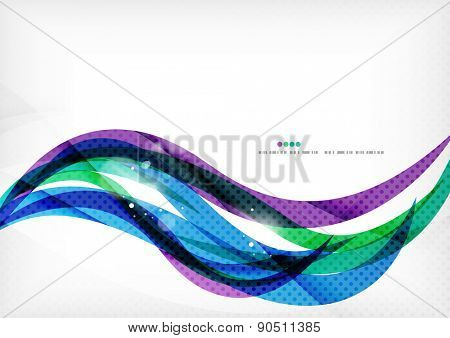 Green blue purple line background, stylized abstraction