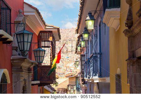 Jaen Street In La Paz, Bolivia