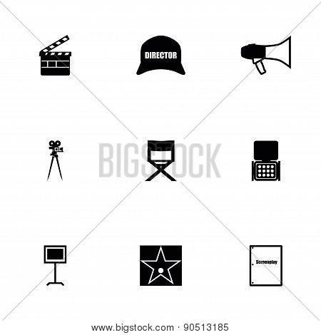 Vector Filming icon set