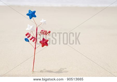Patriotic Usa Background With Decoration