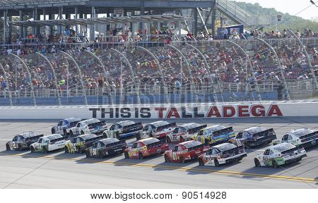 Talladega, AL - May 02, 2015:  The NASCAR Xfinity Series teams take to the track for the Winn-Dixie 300 at Talladega Superspeedway in Talladega, AL.