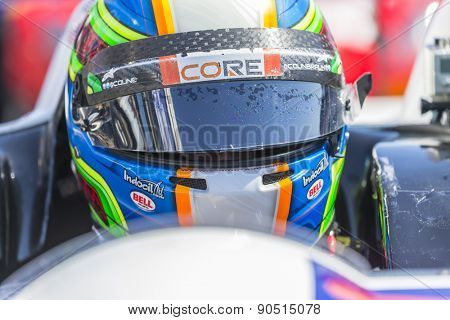 Monterey, CA - May 01, 2015:  The Tudor United SportsCar Championship teams take to the track for a practice session for the Grand Prix of Monterey at Mazda Raceway Laguna Seca in Monterey, CA.