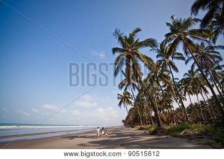 Beautiful landscape of Cojimies beach, Ecuador
