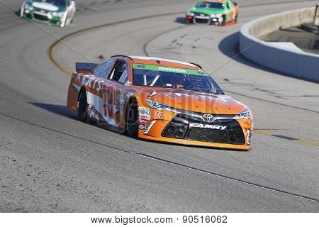 Richmond, VA - Apr 24, 2015:  Carl Edwards (19) qualifies 18th for the Toyota Owners 400 race at the Richmond International Raceway in Richmond, VA.