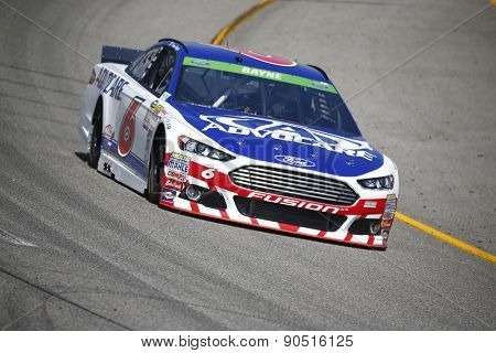 Richmond, VA - Apr 24, 2015:  Trevor Bayne (6) brings his race car through the turns during a practice session for the Toyota Owners 400 race at the Richmond International Raceway in Richmond, VA.