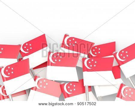 Flag Pin Of Singapore