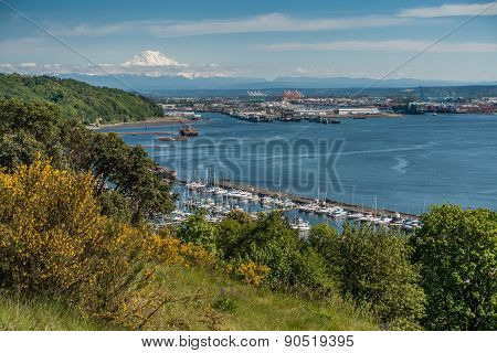 Port Of Tacoma And Mountain 5
