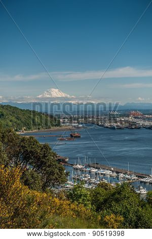 Port Of Tacoma And Mountain 6