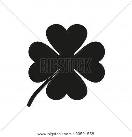 The Clover With Four Leaves Icon. Saint Patrick