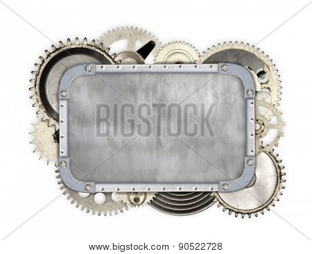 Vintage industrial mechanical isolated on white background