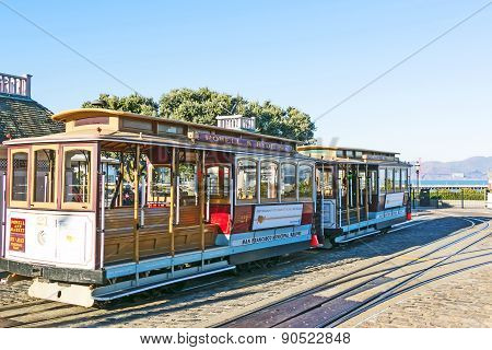 Famous Cable Car Line Powell And Hyde Street Near Fishermans Wharf