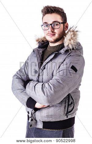 Arms Crossed Winter Boy