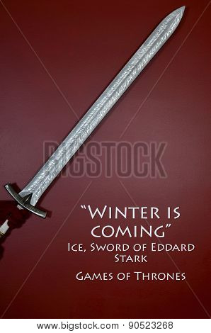 Life Size Replica Of Game Of Thrones, Ned Stark Sword, Ice