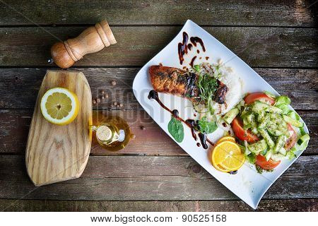 Roasted Fish And  Rice