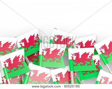 Flag Pin Of Wales