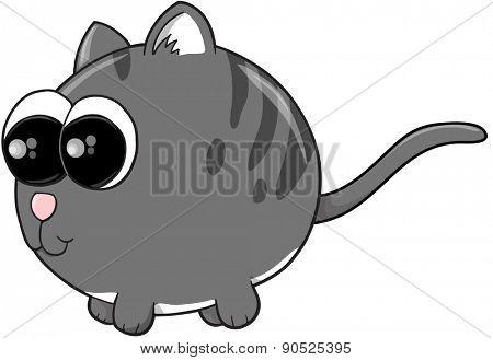 Cute Kitten Cat Vector Illustration art