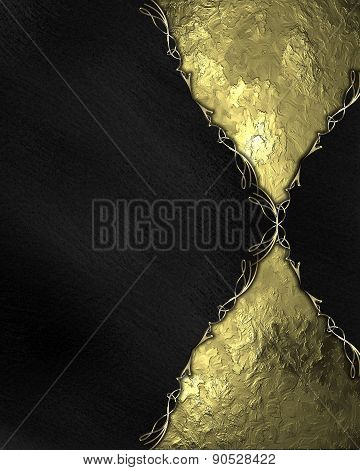 Black Texture With Gold Inlays. Template Design. Template
