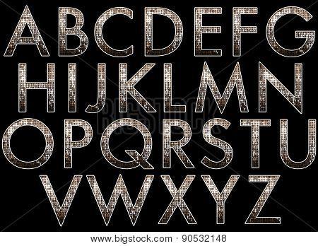 Diva Glitter Alphabet