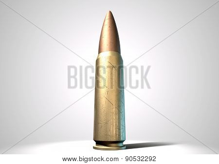 Scratched Bullet Close Up