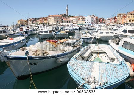 Boats In Rovinj