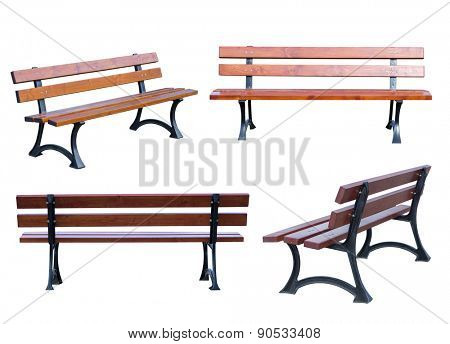 Bench isolated on white background