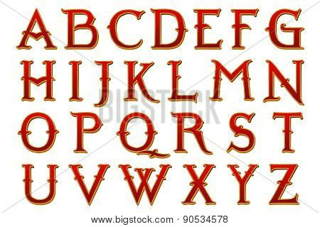 Narnia Fantasy World Alphabet