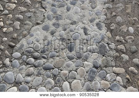 Background With Rounded Stones