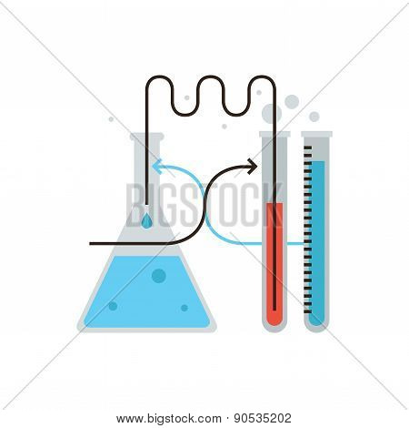Laboratory Test Flat Line Icon Concept