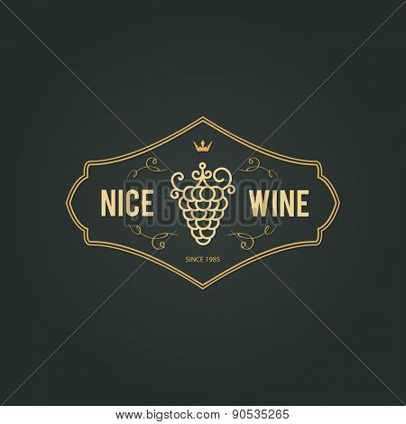 Vintage logotype for wine shop, winery, wine list, restaurant