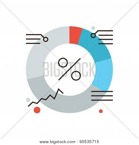 Market Diagram Flat Line Icon Concept