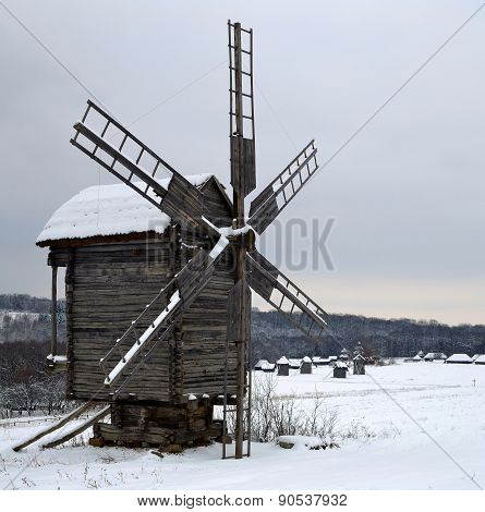 Winter Landscape With The Windmill