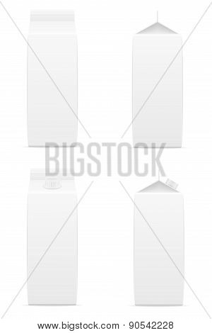 White Package With Juice Vector Illustration
