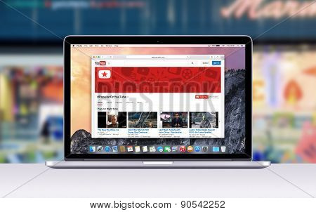 Apple Macbook Pro Retina With An Open Tab In Safari Which Shows Youtube Web Page
