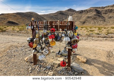 Teakettle Junction In Death Valley