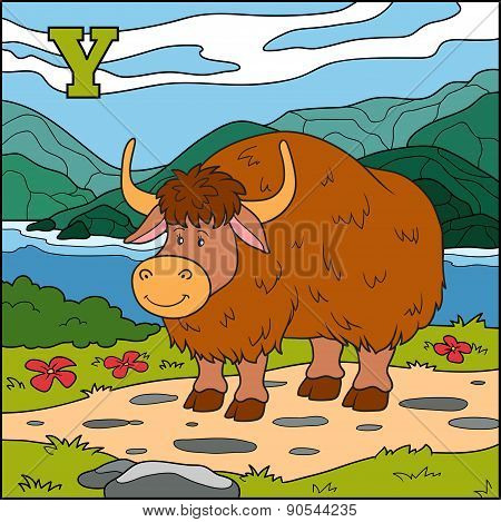 Color Alphabet For Children: Letter Y (yak)