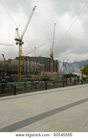 HONG KONG - MAY 06, 2015: building area in TST. Tsim Sha Tsui, often abbreviated as TST, is an urban area in southern Kowloon, Hong Kong.