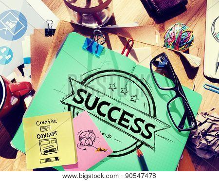 Success Banner Badge Achievement Concept