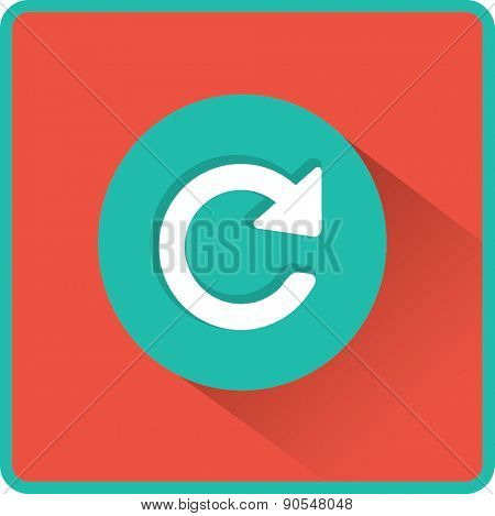 Flat Vector Update icon