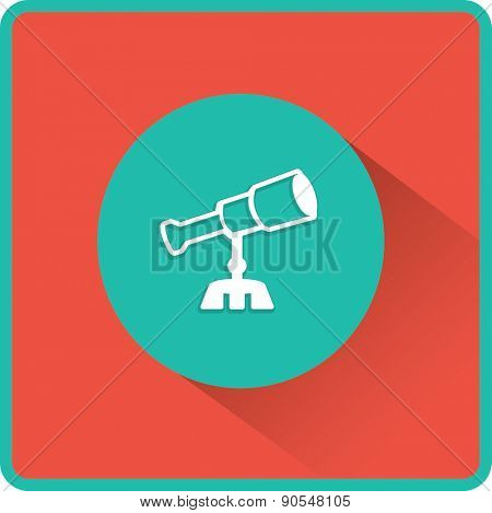 Telescope vector flat icon
